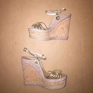 Nwot Halston Wedges